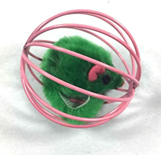 Joick Interactive Cat Toys Kitchen Playing Ball Cage Toys Pets Mouse in Rat Cage Ball Toys Tease Cats Playing Toy