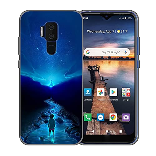 Phone Case for Zte Blade X1 5G Zte A1 ZTG01 Case Soft TPU Phone Cover Anime Sky