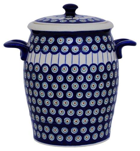 Original Bunzlauer Keramik Rumtopf 4.2 Liter/Mehrzwecktopf/Keramiktopf im Dekor 8