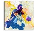 Volleyball II 60x60cm Wandbild SPORTBILD Aquarell Art tolle Farben von Paul Sinus