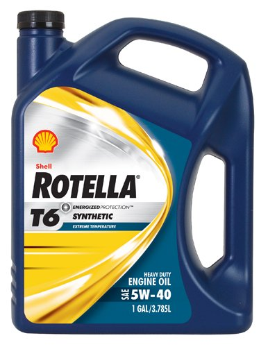 Shell Rotella T6 Full Synthetic Heavy Duty Engine Oil 5W-40, 1...