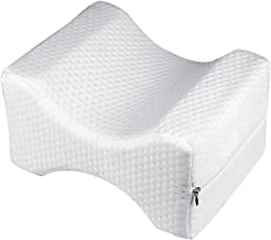 Leg Positioner Knee Pillow - Made from Memory Foam - Removable and Washable Cover - Promotes Better Sleep, Improve Blood Circulation & Proper Posture Alignment