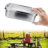 EINFEBEN Edelstahl Brotdose auslaufsicher Lunchbox 800ml Metall Dichte Bento Box Fassungsvermögen mit Fächern für Wandern Reisen Arbeit Schulkinder und Erwachsen