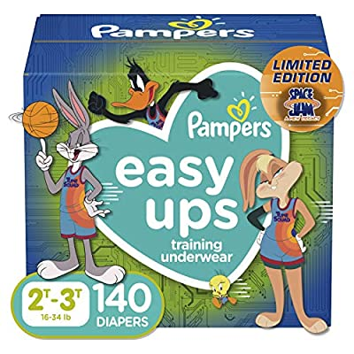 Pampers Easy Ups Space Jam Training Pants Girls and Boys, 2T-3T (Size 4), 140 Count from AmazonUs/PRFY7