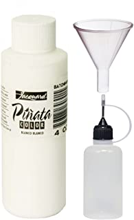 Jacquard Pinata Blanco White Color 4oz, Pixiss 20ml Needle Tip Applicator Bottle and 1.5 Inch Funnel Bundle for Yupo and Resin