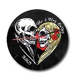 the T bird Reloj de Calavera Personalizable con Reloj de Aniversario, Reloj Alternativo para el día de los Muertos, Regalo para casa Nueva