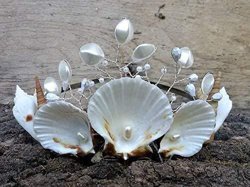 Natural Seashells Crown, Mermaid hair accessories