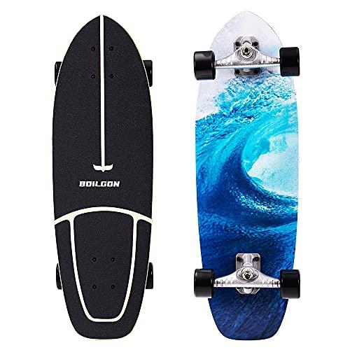 Boilgon 29 Inch Carver Skateboard Cruiser Surf