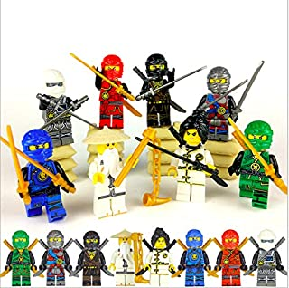 8 PCS NinjBuilding Blocks Action Figures - Ninja Mini Figures - Superhero Mini Building Block Action Figures - Building Toys - Ninja - Super Hero Toys - Building Blocks Brick DIY Toys Children