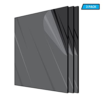 1 Piece Acrylic Sheet Silver Mirror, 12 X 12 Inch Select Color and Size -0.118 Inch Thick- 1//8 inches Plexiglass Plastic Acrylic Square or Rectangle Plexiglass Lucite