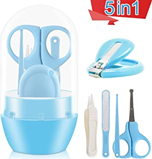 Baby Nail Clippers, 5-in-1 Baby Nail Grooming Kit Scissors, Baby Nail File and Tweezers for Baby Nail Trimming