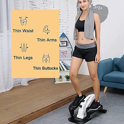 Stepper Home Jogging Stepper Mini máquina elíptica silenciosa Equipo de Ejercicio aeróbico para Mujeres y Hombres Capacidad de Carga 130Kg