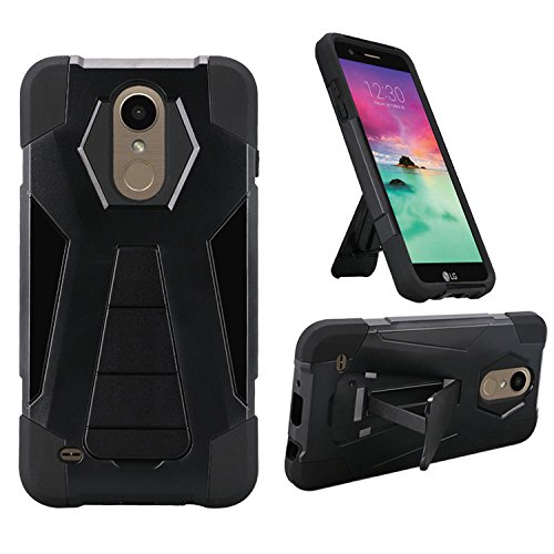 Phone Case for Straight Talk LG Rebel-2 4g LTE (Tracfone) / LG Risio-2 / LG  Fortune/Phoenix-3 GoPhone/LG Aristo Rugged Cover Wide Stand (Wide Stand