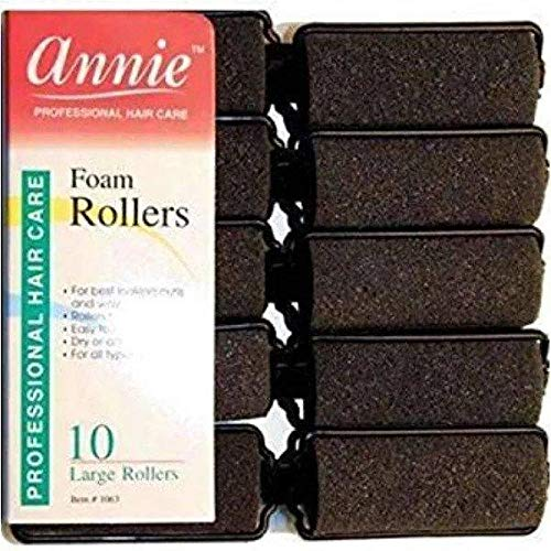Annie 1065 Foam Roller Black - 6 Ct.