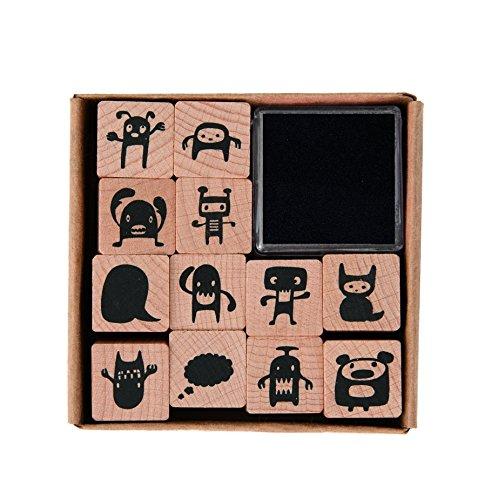 Rico Design-Holz Stempel, Motiv Monster