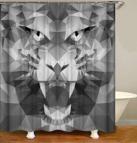 Douchegordijn Badkamer Waterdicht Animal Tijgerprint Gordijn Antischimmel Polyester Badkamer Gordijn 180X200Cm