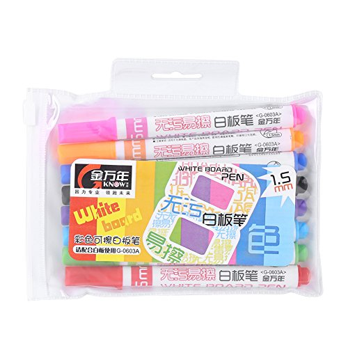 8 Stks/Set Marker, 8 Kleuren Wasbaar Brede Lijn Markers Erasable Whiteboard Pen School Art Supplies Graffiti Schilderij Gift voor Kinderen