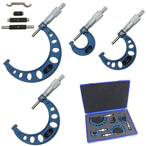 Anytime Tools Premium Outside Micrometer Set