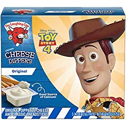 The Laughing Cow Cheese, Original Swiss with Classic Breadstick Dippers, 5 Count