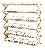 Ahorra espacio Bambú de zapatos zapatero plegable estante de soporte plegable Puerta de entrada Dormitorio simple de...