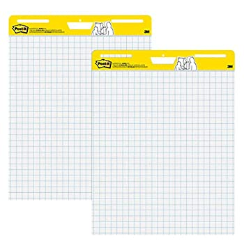Post-it Super Sticky Easel Pad 25 x 30 Inches 30 Sheets/Pad 2 Pads  560  Large White Grid Premium Self Stick Flip Chart Paper Super Sticking Power