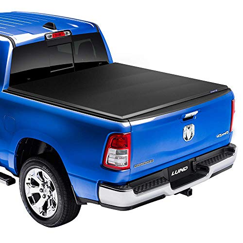 Lund Genesis Elite Tri-Fold, Soft Folding Truck Bed Tonneau Cover | 958192 | Fits 2014 - 2018, 19 Legacy/Limited GMC/Chevy Sierra/Silverado 5' 9' Bed (69.3')