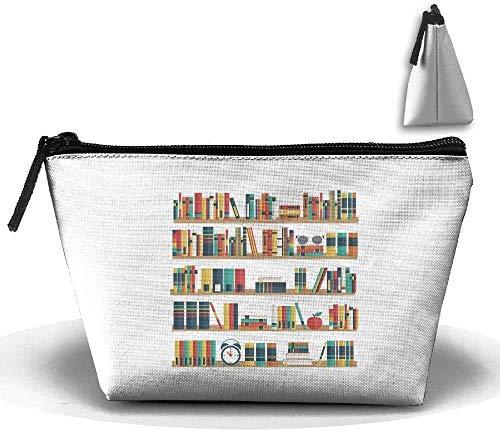 Trapez-Kulturbeutel Tragbare Reisetasche Bücherregal Kosmetiktaschen