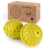 ProfessionalTree 2 Bola Lavadora Ecologica - Lavado sin Detergente - Pelotas de Lavado con Bolas de Cerámica - para Aprox. 1.500 con Olor a Limón