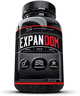 Expandom Male Testosterone Booster Pills- #1 Best Selling Natural Stamina Pill Men.Drive, Energy, Power