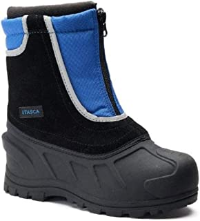 Itasca Big Little Boys Black & Blue Weatherproof Removeable Liner Winter Snow Boots-size 6