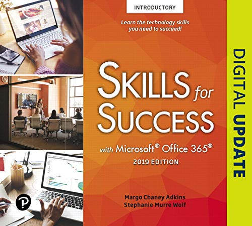 Skills for Success with Microsoft Office 2019 Introductory