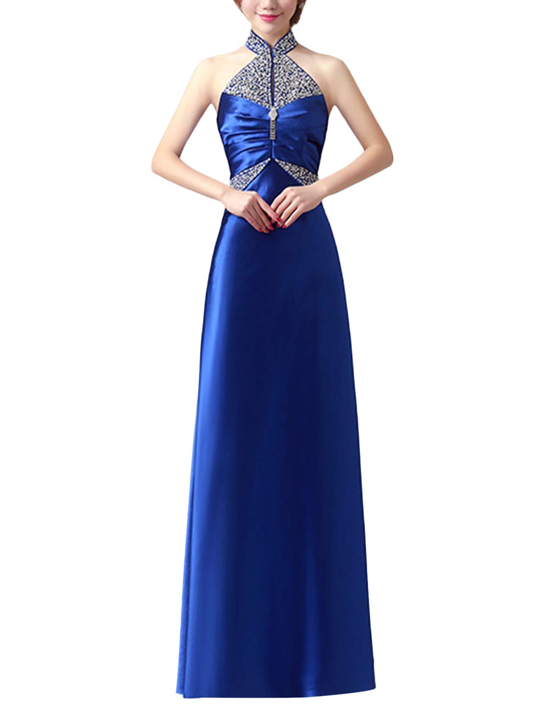 Available at Amazon: Tanming Women's Sleeveless Off Shoulder Formal Evening Gown A-Line Party Maxi Dress
