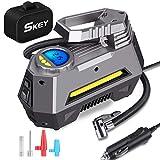 Skey Air Compressor Tire Inflator - Electric Auto Pump 12V DC Portable Air Compressor Pump Digital Tire...