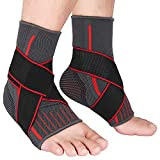 2 Packs Breathable Ankle Brace, Ankle Support with Compression Ankle Wrap for Plantar