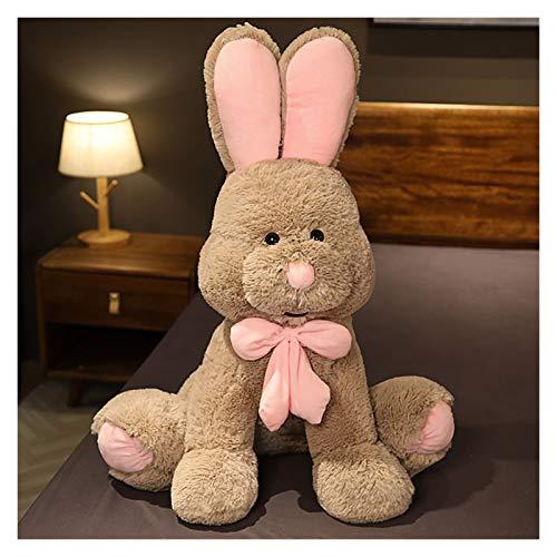 Peluche 80 cm Hermoso gigante conejo peluche juguete suave dibujos animados animal gran oreja conejito peluche muñeca rellena almohada acompañar regalos de juguete ( Color : Gray , Height : 50cm )
