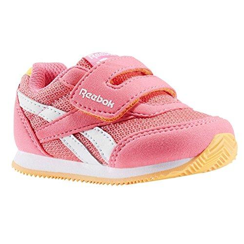 Reebok Unisex-Kinder Royal Cljog 2rs Kc Sneaker Low Hals, Pink (Solar Pink/Fire Spark/White),23.5 EU