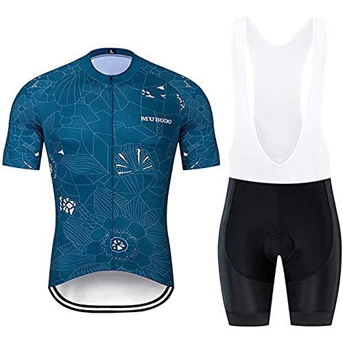 Conjunto de Maillot de Ciclismo Para Hombre, Ropa Profesional de Bicicleta de...