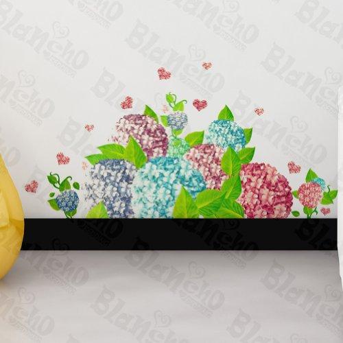 Fleur ébullition dans le vent – Patchs Rouge Stickers muraux Stickers Décoration intérieure