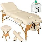 TecTake Table de massage cosmetique lit épaisseur de coussin 10cm +...