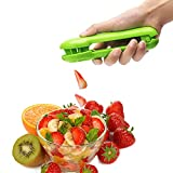 Zlehome Grape Cutter For Kids Grape Cherry Baby Tomatoes Strawberry Slicer For Fruits And Vegetables Salad Cutter Kitchen Gadget No Blade Safety(Green)