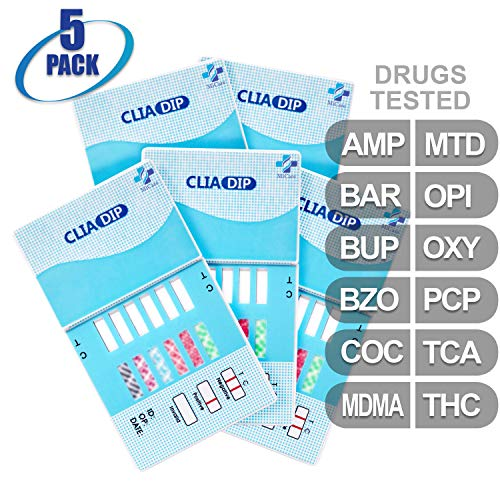 Check Out This MiCare [5pk] - 12-Panel Urine Drug Test Card (AMP/BAR/BUP/BZO/COC/MDMA/MTD/OPI/OXY/PC...