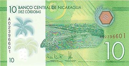 10 Nicaraguan córdoba Polymer Note @ arunrajsofia