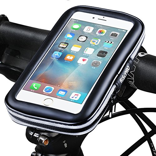 resistente a polvo Soporte de tel/éfono para bicicleta universal lluvia y nieve impermeable Risepro para bicicleta y motocicleta