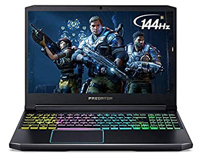 "Acer Predator Helios 300 Gaming Laptop, Intel Core i7-9750H, GeForce GTX 1660 Ti, 15.6"" Full HD 144Hz Display, 3ms Response Time, 16GB DDR4, 512GB PCIe NVMe SSD, RGB Backlit Keyboard, PH315-52-710B from Acer"