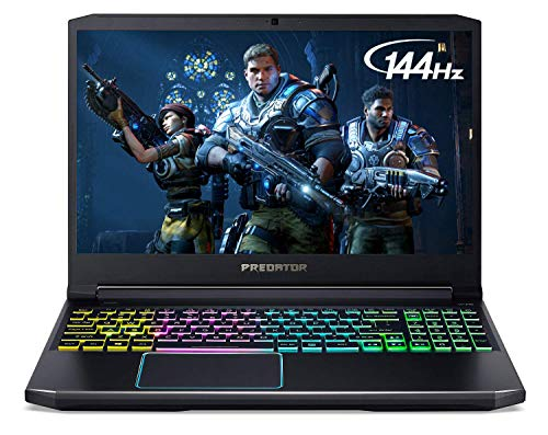 "Acer Predator Helios 300 Gaming Laptop, Intel Core i7-9750H, GeForce GTX 1660 Ti, 15.6"" Full HD 144Hz Display, 3ms Response Time, 16GB DDR4, 512GB PCIe NVMe SSD, RGB Backlit Keyboard, PH315-52-710B"