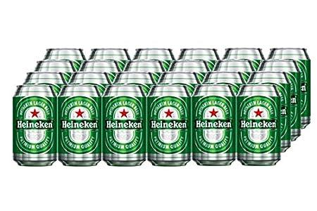 Heineken Cerveza - Caja de 24 Latas x 330 ml - Total: 7.92 L