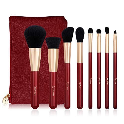 Pinceles de maquillaje, 8 Piezas Pincel de maquillaje Set Face Eyeshadow...