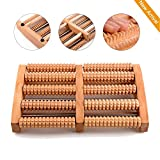 Wooden Foot Massager, Hangrui Dual Foot Massage Wooden Foot Massage Roller Acupressure Foot Massage and Pain Relief for Plantar Fasciitis, Foot Pain and Aches - 0.93kg (New Upgraded Version)