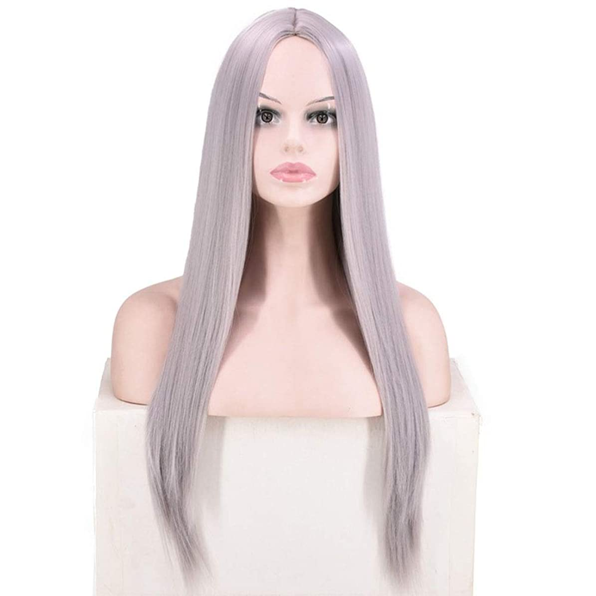 アセンブリ強風類推BOBIDYEE 女性のピンクの長いストレートの髪のかつら耐熱性コスプレパーティードレスのかつらロールウィッグロールプレイングかつら (色 : Style: 4)