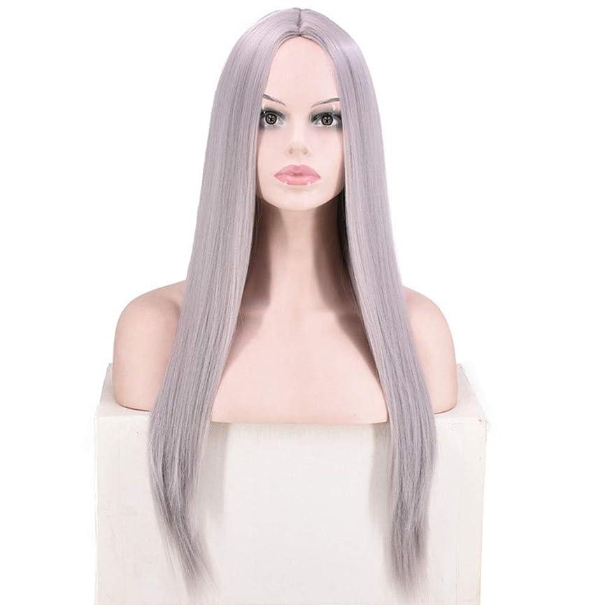 組み込む端貢献BOBIDYEE 女性のピンクの長いストレートの髪のかつら耐熱性コスプレパーティードレスのかつらロールウィッグロールプレイングかつら (色 : Style: 4)